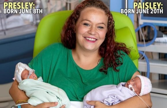 Mum makes history after giving birth to healthy twins two weeks apart