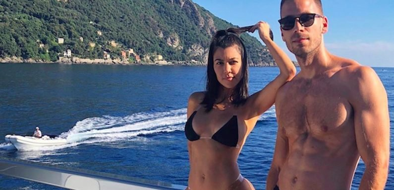 Kourtney Kardashian's Sexy Clear Strap Bikini Is Not Not an Optical Illusion