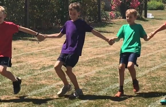 Four school boys 'rig' their yearly sports day race for the sweetest reason