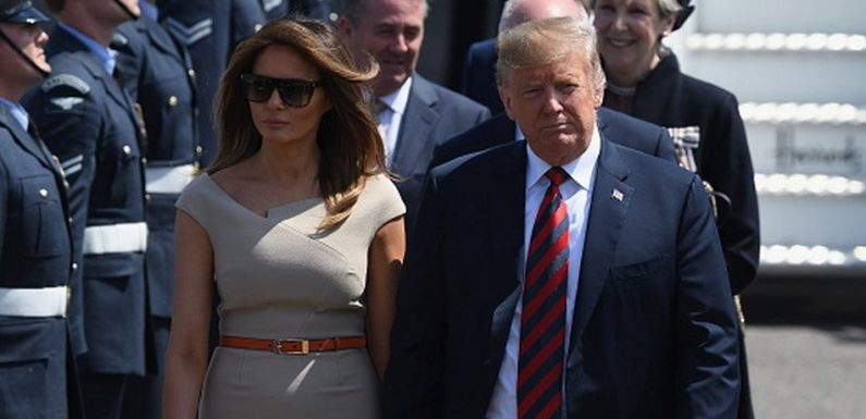 Melania Trump Has Arrived In England And She Dressed Just Like Meghan Markle