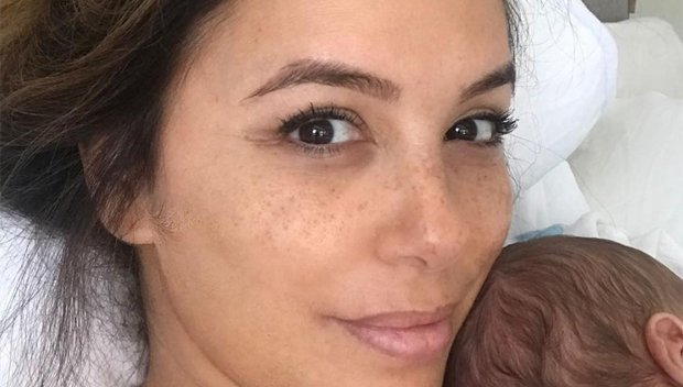 Eva Longoria, 43, Goes Without Makeup & Reveals Her Breastfeeding Hair & Baby Son — Gorgeous Pic