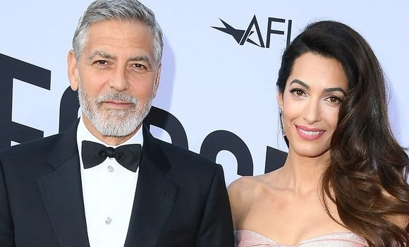 Amal Clooney Wore a Corset Minidress for Date Night with Mustachioed Husband