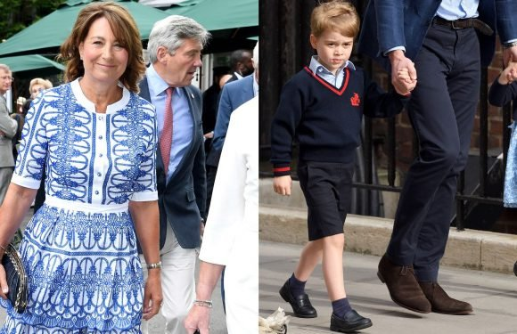 """Prince George and Princess Charlotte Play """"Shopkeepers"""" at Work with Grandma Carole Middleton"""