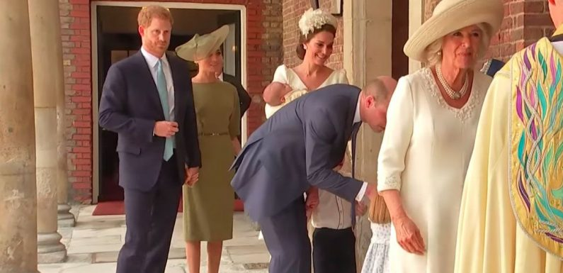 Meghan Markle and Prince Harry Adorably Held Hands at Prince Louis' Christening