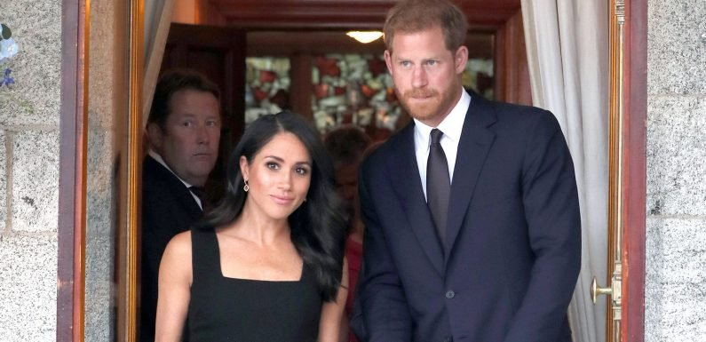 Meghan Markle Just Changed Into a Sleeveless Little Black Dress for Her Third Outfit of the Day