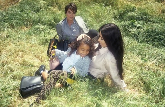 North West Makes Modeling Debut for Fendi With Kim Kardashian and Kris Jenner