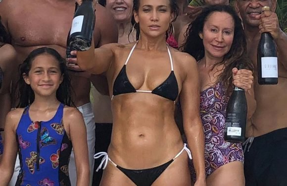 Jennifer Lopez Shows Off Her Impeccable Abs at the Beach for Her 49th Birthday