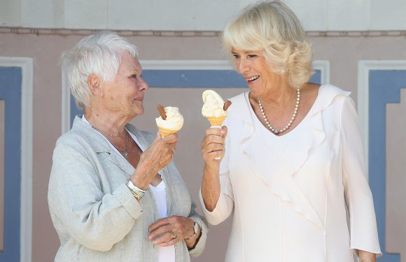 Royal Ice Cream Date! Camilla and Judi Dench Beat the Heat at Queen Victoria's Holiday Home