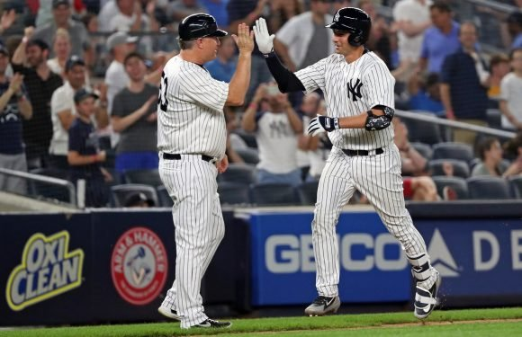 Kyle Higashioka ended his misery in best way possible