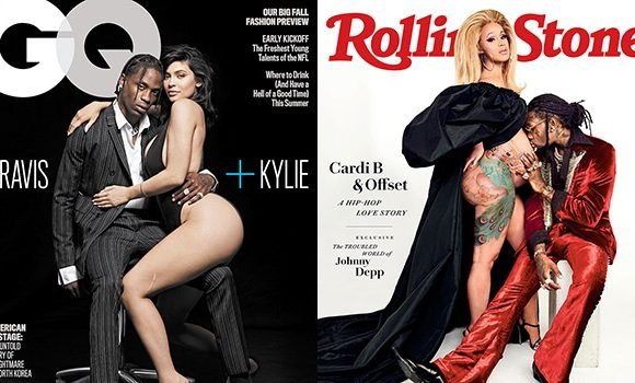 Kylie Jenner & Travis Scott & 11 More Sexy Couples Who Flaunt Hot PDA On Magazine Covers