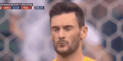 World Cup viewers spot France's goalkeeper spitting out giant bug in game against Uruguay