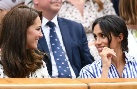 Meghan Markle And Kate Middleton Arrive Side-By-Side At Wimbledon As Their Friendship Blooms