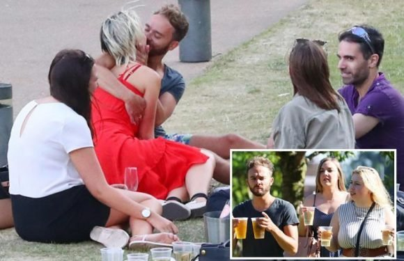 Coronation Street's Jack P. Shepherd snogs girlfriend Hanni Treweek at Kate Oates' leaving do in Manchester