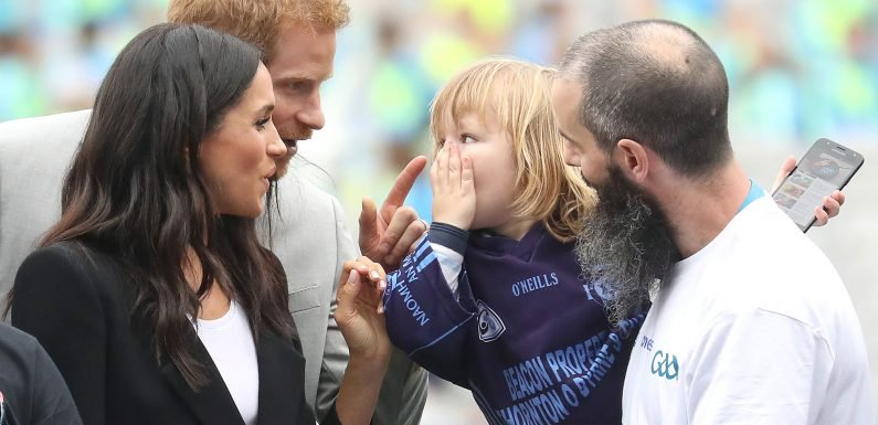 This Toddler Couldn't Stop Touching Meghan Markle's Hair and Prince Harry Wasn't Having It!