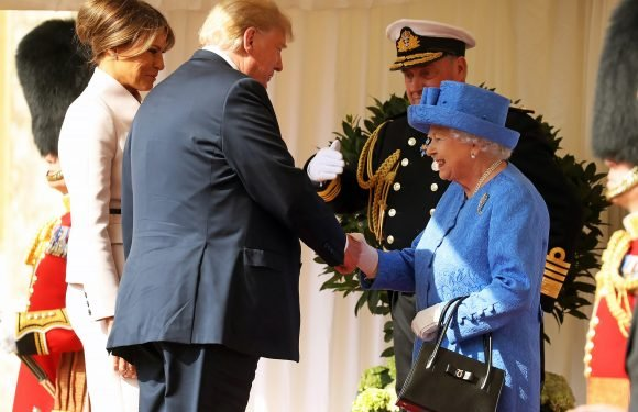 Queen Elizabeth Meets Donald Trump and Wife Melania for the First Time Amidst Protests in London