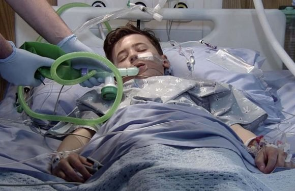 Corrie death fears for Jack Webster as he is rushed to hospital