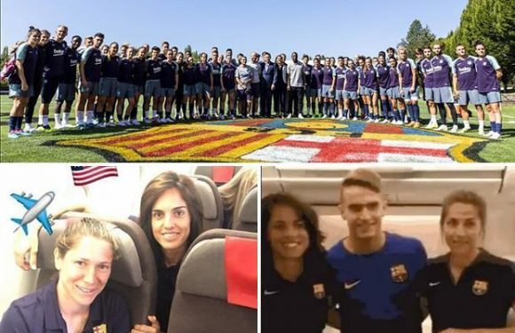 Barcelona in sexism storm as women team fly in economy while men relax in first class