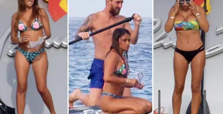 Lionel Messi on luxury yacht with his and Cesc Fabregas' wife as World Cup stars including Eric Dier flock to seaside for summer holidays