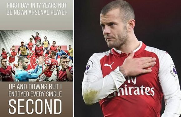 Jack Wilshere posts emotional social media message about leaving Arsenal after 17 years