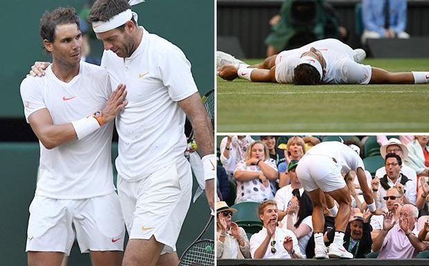 Wimbledon 2018: Rafa Nadal marches on as he beats Juan Martin Del Potro to reach another semi-final
