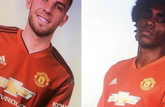 Manchester United fans sceptical as pictures of transfer targets Willian and Toby Alderweireld in new club shirts appear online