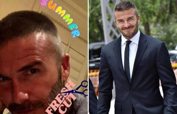 David Beckham shows off his brand new buzzcut after Croatia family holiday