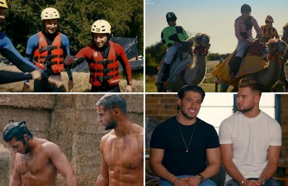 Chris and Kem's new show has viewers in stitches as they wrestle in gravy, ride camels and stuff their faces with food – The Sun