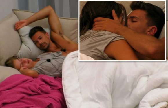 Love Island fans claim Georgia Steel and Sam Bird are 'breaking the rules' by having secret snog