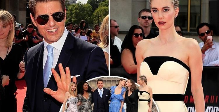 Tom Cruise looks dapper as he joins glam Vanessa Kirby and the cast of Mission:Impossible – Fallout at the world premiere in Paris