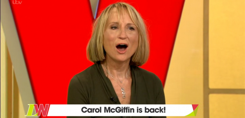 Loose Women fans rejoice as Carol McGiffin returns to panel after five years and shows off results of new face lift