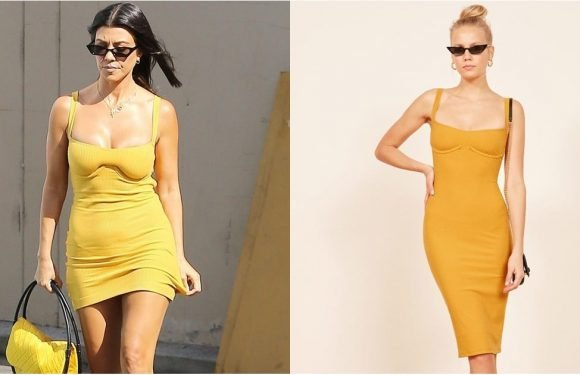 Kourtney Kardashian's Dress Would Be Thrilling to Wear, 'Cause It's So Darn Short and Sexy