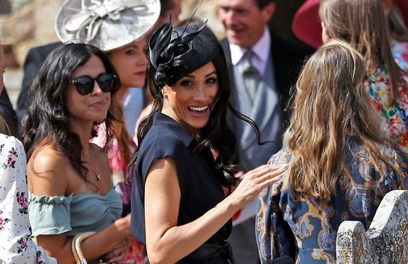 Birthday girl Meghan Markle joins husband Harry at close friend's wedding