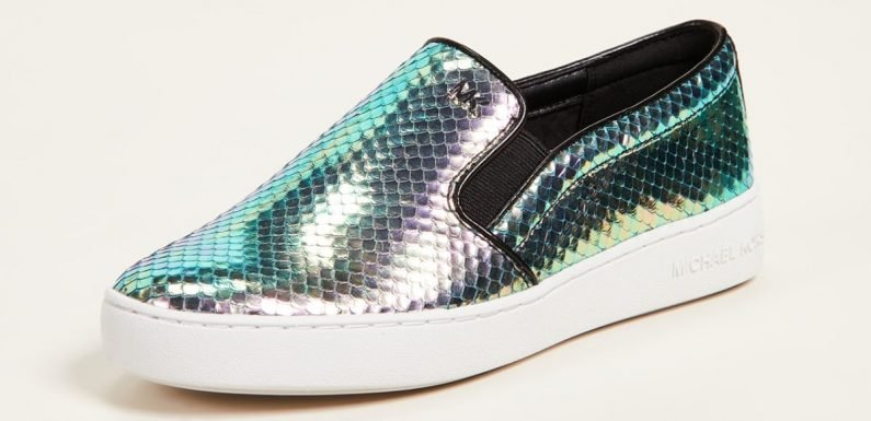 These Iridescent Michael Kors Slip-Ons Are the Most Magical Sneakers on Earth. Period.