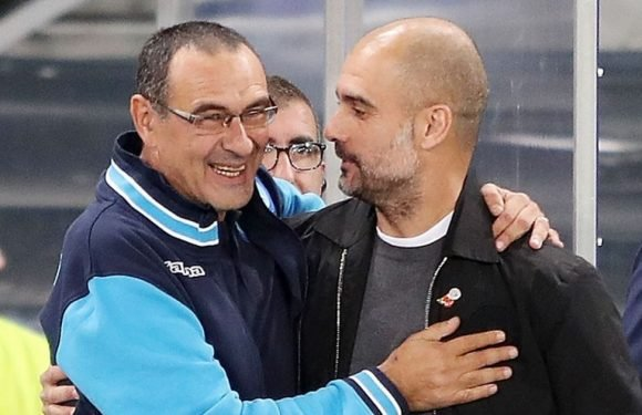 Guardiola turns fan-boy as he gushes over new Chelsea boss Sarri's Napoli