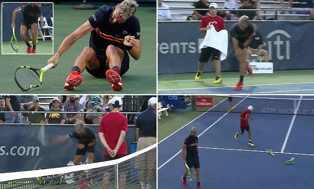 Benoit Paire smashes THREE £200 rackets during rampage
