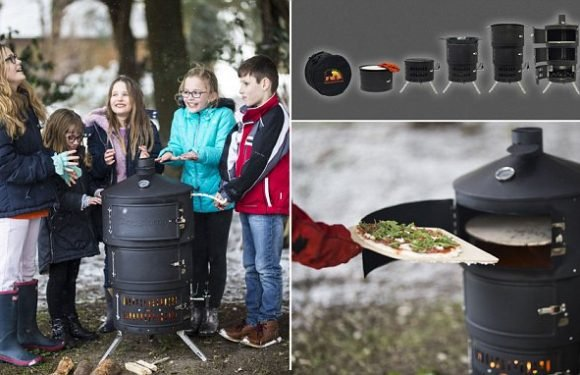 Incredible folding barbecue can be built in two minutes