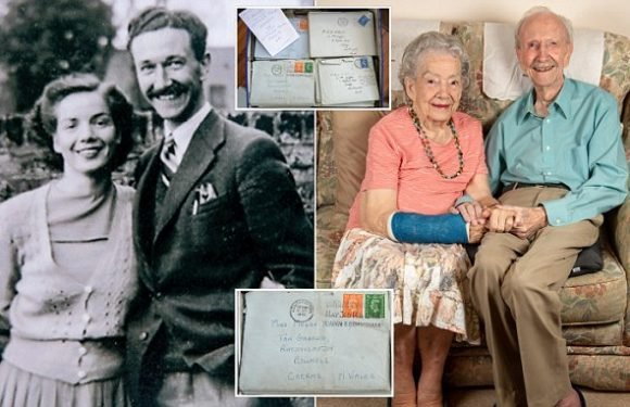 Couple engaged within two weeks after 129 letters celebrate 70 years