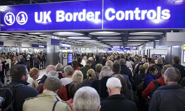 Theresa May wants to introduce British-only passport lanes
