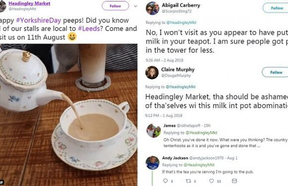 Milk in teapot stunt backfires as market told 'won't be visiting you'
