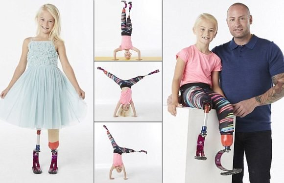 Girl, 8, born with no calf bones lands River Island modelling contract