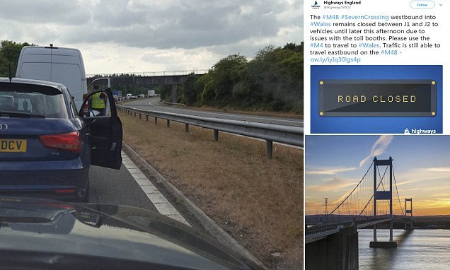 Severn Bridge shut into Wales after staff call in sick