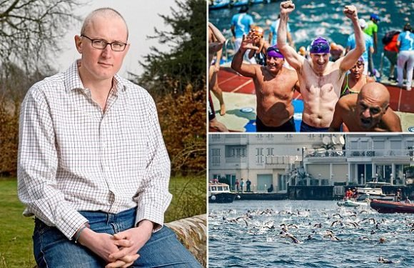 BBC political journalist swims between Asia and Europe for charities