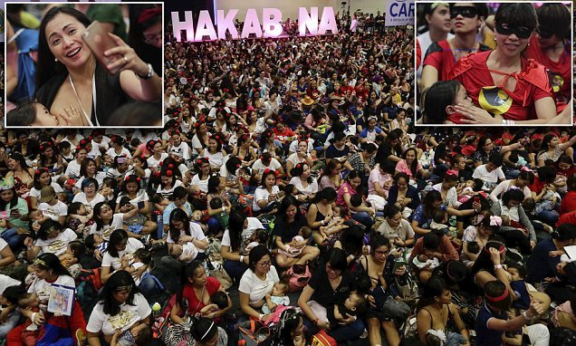 More than 2,000 mothers show support for breastfeeding in Philippines