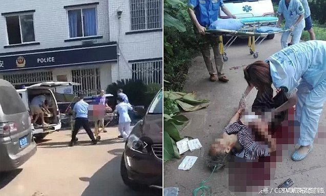 Suspect rams car into Chinese police station before slashing crowd