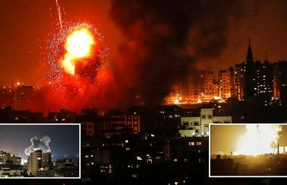 Israel strikes Gaza after rockets fired from enclave