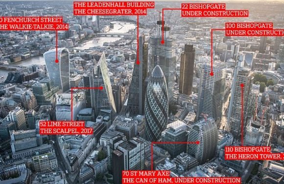 How City of London has become crowded with towers