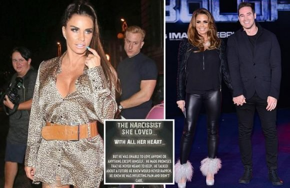 Katie Price hits out at 'disgraceful' ex Kieran Hayler and slams him as a 'liar' who left her 'broken and bleeding' and 'laughed at her pain'