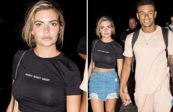 Love Island's Megan Barton-Hanson wears playful 'nakey nakey nakey' top on night out with boyfriend Wes Nelson