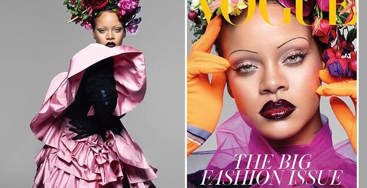 Rihanna vows to never lose her 'butt, thighs or hips' as she poses for Vogue's iconic September issue