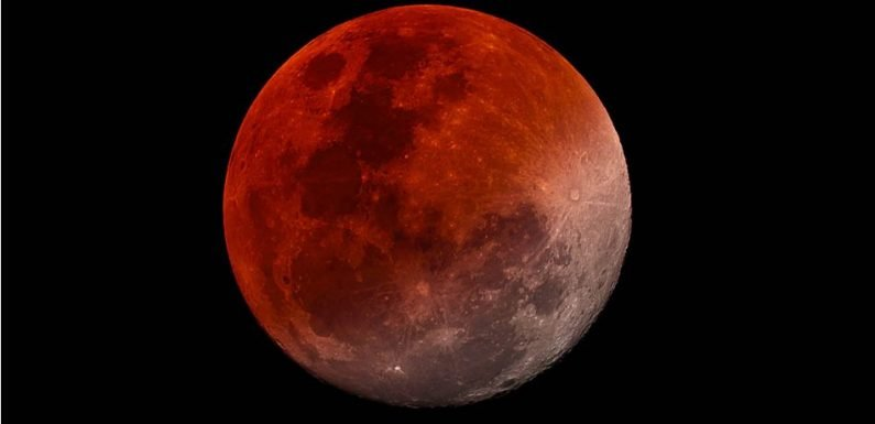 Spectacular Image Of July's 'Blood Moon' Unveils Earth's Full Shadow During The Lunar Eclipse